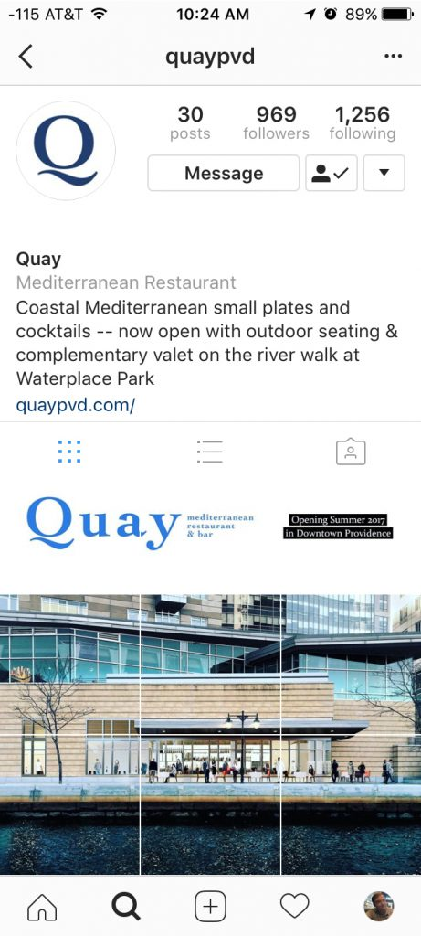 quay providence instagram event banner