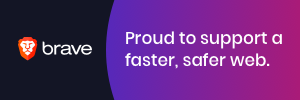 Proud to support a faster, safer web with Brave Browser